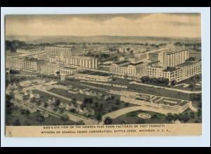 W5P06/ Battle Creek Michigan USA AK Factory of Post Products ca.1940