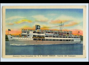 W5P07/ S.S. Mount Vernon Streamliner Wilson Line AK Dampfer Schiff 1949