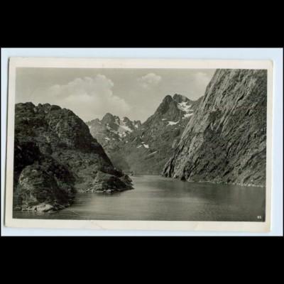 W5P44/ Deutsche Schiffspost Der Deutsche 1939 KDF Norwegen Fjordpartie Foto AK