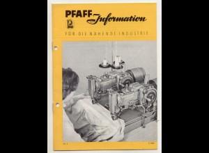 c531/ Pfaff-Informationen Nähmaschinen Heft Nr.4 1957 viele Abb.