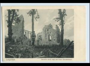 W5Q95/ Langemark Belgien zerstört AK 1. Weltkrieg ca.1915