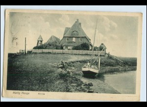 W5U07/ Hallig Hooge Kirche AK 1932