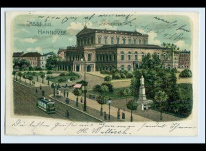 A2914/ Hannover Hof-Theater 1905 Litho AK