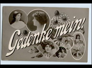 W5U29/ Gedenke mein! Fotomontage Foto AK Frauen 1906 Verlag: WPK