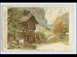 W5T71/ Paris 1900 Weltausstellung - Village Suisse Litho AK