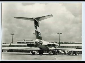 W5U90/ Flughafen Berlin Schönefeld Flugzeug IL 62 Interflug AK 1976