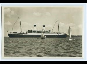 W6E65/ M.S. Monte Sarmiento Dampfer Foto AK ca.1932