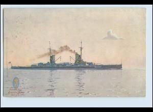 W6B06/ S.M.S. Friedrich der Große Kriegsschiff AK 1914