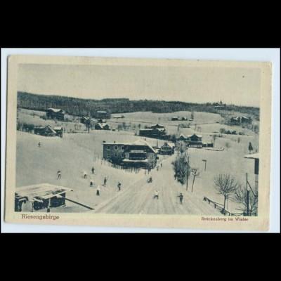 W6M58/ Brückenberg im Winter Riesengebirge AK ca.1930