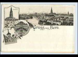 W6M91/ Gruß aus Bern schöne Litho AK ca.1897