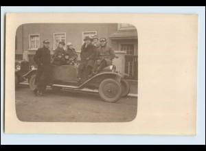 W7E82/ Opel Cabrio tolle Original- Foto AK ca. 1930 Oldtimer (b)
