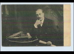 W6M49/ Musiker mit Zither AK ca.1912