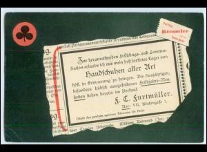 W6T51/ F.C. Furtwängler Wien Handschuhe aller Art - Reklame AK 1900