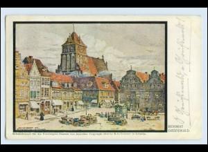 W6V77/ Greifswald schöne AK 1914 (b)