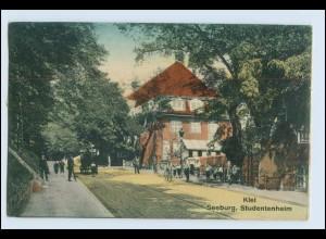 W6V03/ Kiel Seeburg Studentenheim Studentika AK 1916