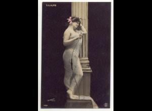 W6V91/ Liliane - junge Frau Erotik Foto Stebbing, Paris AK ca.1910