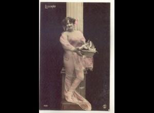 W6V93/ Liliane - junge Frau Erotik Foto Stebbing, Paris AK ca.1910