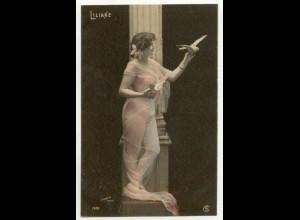 W6V94/ Liliane - junge Frau Erotik Foto Stebbing, Paris AK ca.1910
