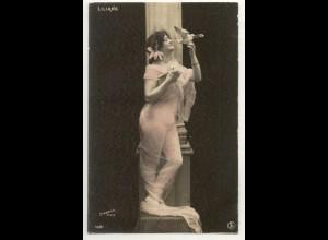 W6V95/ Liliane - junge Frau Erotik Foto Stebbing, Paris AK ca.1910