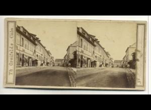 Y16466/ Bad Kissingen Ludwigstraße Stereofoto ca.1890