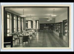 W6W25 / Flensburg Grenzakademie Sankelmark Bibliothek Foto AK 1958