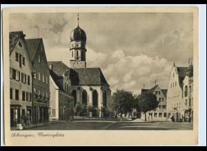 W6W07/ Schongau Marienplatz AK 1945