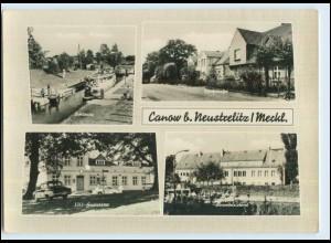W7A69/ Canow Wustrow bei Neustrelitz Schleuse Dorfstraße AK (b)