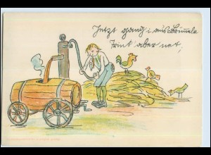 P3H89/ Volksliederpostkarte No. 59 Litho AK Wasserpumpe ca.1900
