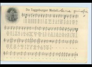 P2V50/ Lieder AK Die Toggeburger Meitelie 1913 Schweiz