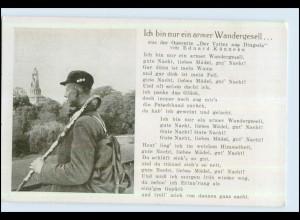 """P2V49/ Lieder AK """"Ich bin nur ein armer Wandergesell..."""" ca.1938"""