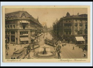W7D24/ Straßenbahn Frankfurt M. Kaiserplatz AK 1924 (b)