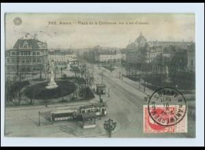 W7D17/ Straßenbahn Anvers Belgien AK 1911