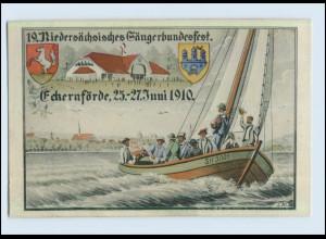 W7D09/ Eckernförde Sängerbundesfest 1910 tolle AK (b)