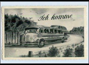 W7E77/ Omnibus - Ich komme! Ferien-Express AK 1959 (b)