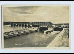 P3A29/ Passau Wehranlage Kraft- und Schalthaus 1929 Foto AK