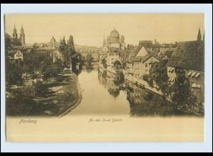 P2V92/ Nürnberg Insel Schütt mit Synagoge AK ca.1900