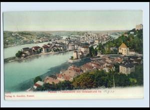P2X98/ Passau Totalansicht mit Innenstadt AK