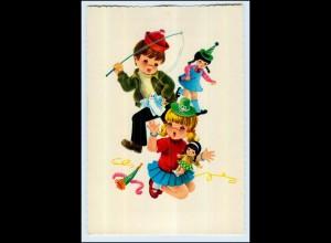 P2X50/ Kind mit Puppe Fasching AK ca.1965 Verlag: Krüger