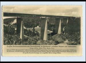 W7P22/ Autobahn AK Brücke im Muldental Foto AK ca.1938 Siebenlehn (b)