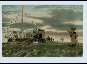 W7K91/ Observatory Platform, Summit of Snaefell I.O.M. AK ca.1912