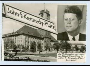 W7J41/ Berlin Schöneberg John F.-Kennedy-Platz AK 1963