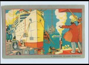 V1636/ Philips Glühbirne Werbung Reklame Litho AK Le Roi Moustinga ca.1925