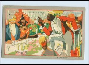V1633/ Philips Glühbirne Werbung Reklame Litho AK Le Roi Moustinga ca.1925