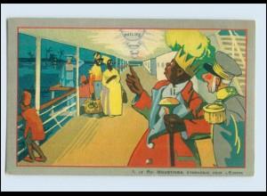 V1632/ Philips Glühbirne Werbung Reklame Litho AK Le Roi Moustinga ca.1925