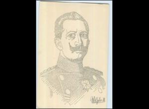 U6083/ Kaiser Wilhelm Kunstschrift-Postkarte AK ca.1914
