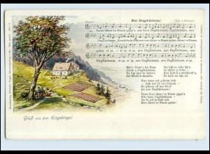 W7T05/ Lieder AK Gruß aus dem Erzgebirge Verlag: Vogel ca.1912