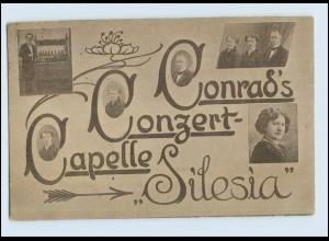 "P3D25/ Conrad`s Kondert-Kapelle ""Silesia"" AK 1930 Musik Variete"