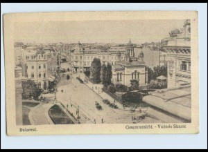 P3D68/ Bukarest Viktorie Straße AK Rumänien ca.1920