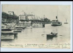 P3D74/ Evian-les-Bains - Le Port AK 1902