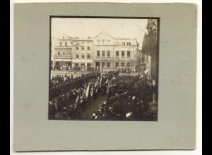 Y15608/ Guhrau Bez. Schlesien Marktplatz Kriegerverein Foto ca.1905